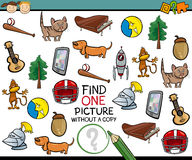 Find single picture game cartoon Stock Image