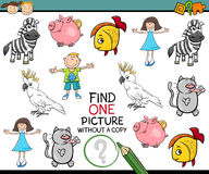 Find single picture preschool game Royalty Free Stock Photography