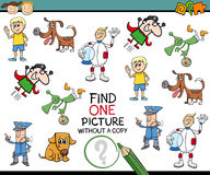 Find single picture preschool task Royalty Free Stock Photography