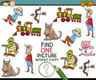 Find single picture preschool test Royalty Free Stock Photos