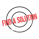 Find A Solution rubber stamp Stock Photo