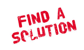 Find A Solution rubber stamp Stock Photos