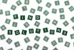 Find Solutions - Clear Letters Against Blurred Stock Photography