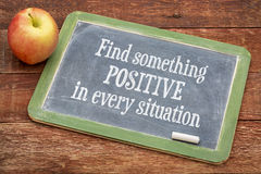 Find something positive in every situation - blackboard Royalty Free Stock Photos