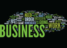 Find Success In Your Homebased Business Text Background Word Cloud Concept Stock Images