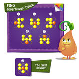Find superfluous figure. Visual Game for children. Task: Find superfluous figure Stock Photos