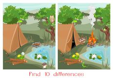 Find ten differences Royalty Free Stock Photo
