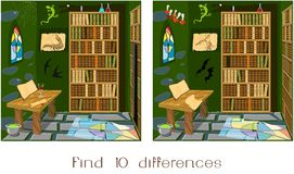Find ten differences royalty free illustration