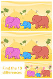 Find the ten differences between two illustrations Royalty Free Stock Photos