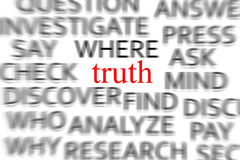 Find the truth Stock Photography