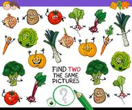 Find two the same vegetables game Stock Image