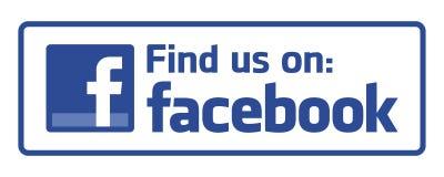 Find us on facebook. Logo on white background - editable vector illustration vector illustration