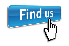 Find us button Royalty Free Stock Photos