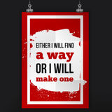 Find way or make one. Inspirational quote about life, new week, positive phrase. Modern typography text on grunge. Background Stock Images