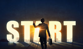 Find your business motivation . Mixed media Royalty Free Stock Photo