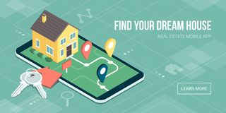 Real estate mobile app Royalty Free Stock Photo