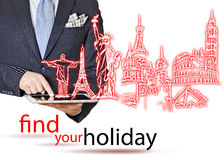 Find your holiday Royalty Free Stock Images
