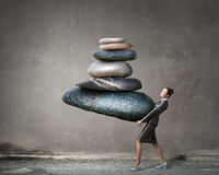 Find your inner balance Stock Image