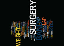 Find Your Inner Slimness With Lap Band Surgery Text Background  Word Cloud Concept Stock Image