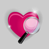 Find your love symbol vector illustration Royalty Free Stock Images