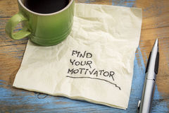 Find your motivator advice Royalty Free Stock Photo