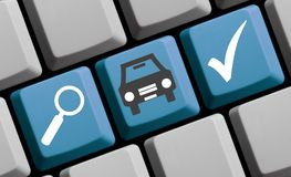 Find your new car online. Computer Keyboard - Find your new car online stock photos