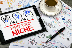 Find your niche. Concept on tablet pc Stock Photo