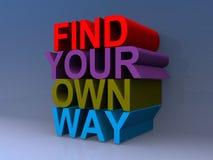 Find your own way. Illustration vector illustration