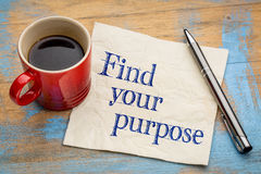 Find your purpose advice Royalty Free Stock Images