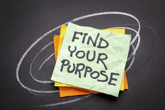 Find your purpose advice or reminder Royalty Free Stock Photo