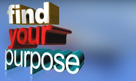 Find your purpose graphics Stock Image