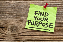 Find your purpose reminder Royalty Free Stock Photography