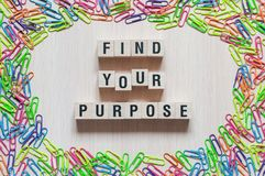 Find your purpose word concept stock photo
