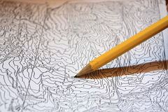 Find Your Way. A photo showing a little scale map royalty free stock images