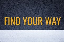 Find your way concept with black asphalt road texture royalty free stock photos