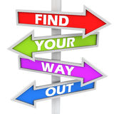 Find your way out Stock Photo