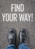 Find your way Royalty Free Stock Images
