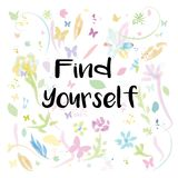Find yourself message Stock Photo