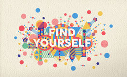 Find yourself quote poster design background Stock Photos