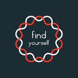 Find yourself in red and white sign Royalty Free Stock Images