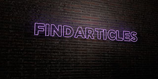 FINDARTICLES -Realistic Neon Sign on Brick Wall background - 3D rendered royalty free stock image Royalty Free Stock Photos