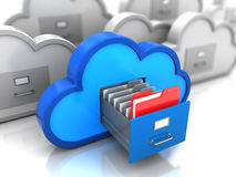 Finded data. 3d illustration of folder finded in cloud storage Royalty Free Stock Photo