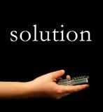 Finden der Lösung Lizenzfreies Stockbild