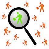 Finden der rechten Person stock abbildung