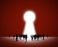 Finden des Schlüssels zum Erfolg Stockfotos