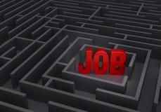 Finden eines Jobs Stockbild