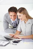 Finden eines Jobs im Internet Stockfotos