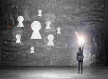Finden eines Schlüssels zum Erfolg Lizenzfreie Stockfotos