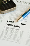 Finden Sie den rechten Job Lizenzfreies Stockfoto