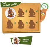 Finden Sie den rechten Schatten Lizenzfreies Stockfoto